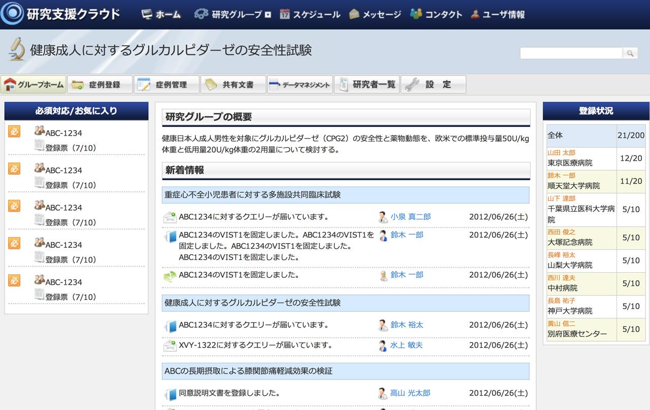 APS-Cloudの画面イメージ